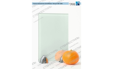 Стекло окрашенное COLORGlass REF 1602 (белый 9010) фото