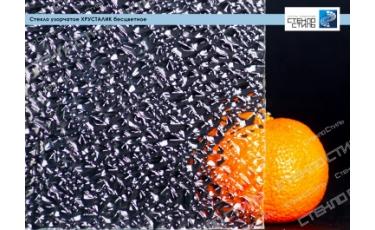 Стекло узорчатое Хрусталик бесцветное фото
