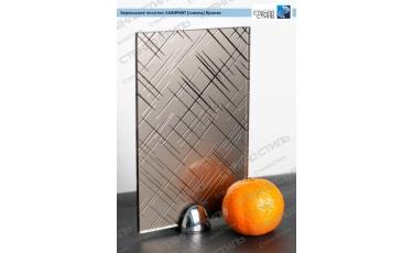 Зеркальное полотно Лабиринт (глянец) бронза фото