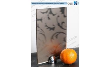 Зеркальное полотно сатинированное Барокко бронза фото