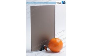 Зеркальное полотно сатинированное Бронза фото