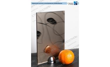 Зеркальное полотно сатинированное Плющ бронза фото