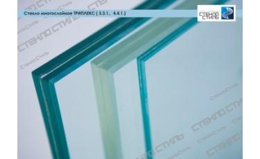 Стекло многослойное Триплекс (3.3.1., 4.4.1.) фото