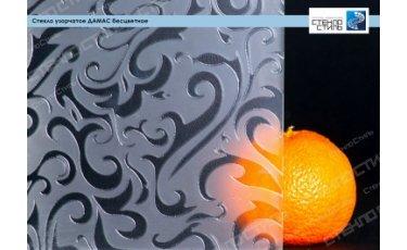 Стекло узорчатое Дамас бесцветное фото