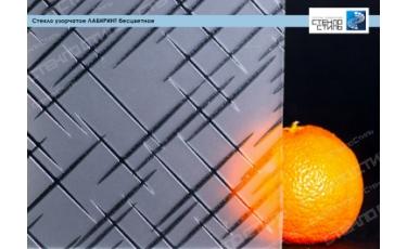Стекло узорчатое Лабиринт бесцветное фото