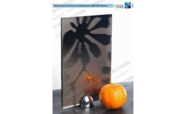 Зеркальное полотно сатинированное Шефлера бронза фото