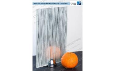Зеркальное полотно Матовые штрихи SMC-111 серебро фото
