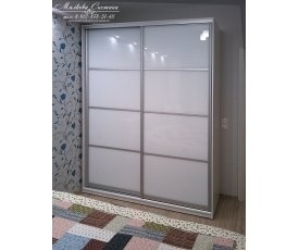 Оформление шкафа-купе стеклом Lacobel фото
