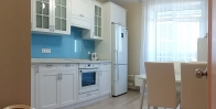 Оформление кухни стеклом Lacobel фото