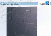 Стекло сатинированное окрашенное Квадрикс (BWG-DSG-012) черное фото